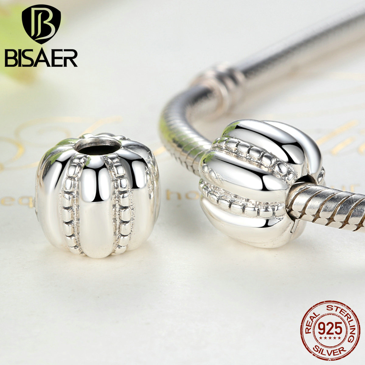 Authentic 925 Sterling Silver Crazy Clip Stopper Beads Charms Fit PAN Charm Bracelet DIY Fine Sterling Silver Jewelry GYC010