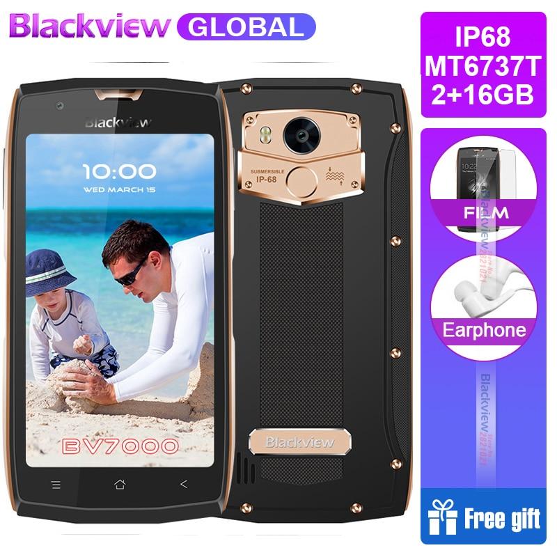 2017 Blackview BV7000 Mobile Phone IP68 Waterproof MT6737T Quad Core 5 0 FHD Fingerprint Glonass NFC