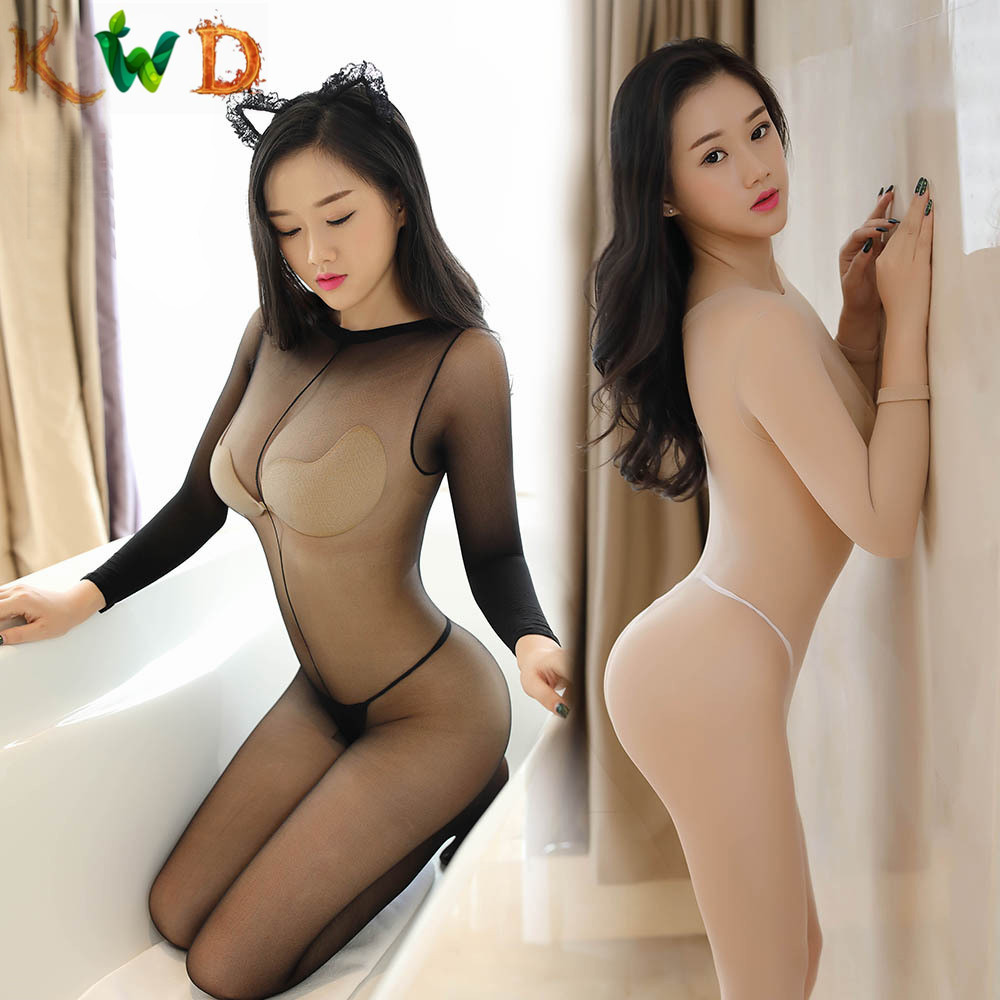 KWD 2019 Selling Women <font><b>Sexy</b></font> <font><b>Lingerie</b></font> porn <font><b>Transparent</b></font> Erotic Underwear Babydolls Full Slips open crotch Sleepwear image