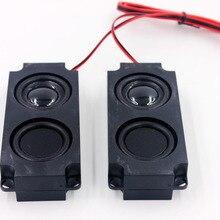 2 шт 5 Вт 8 Ом полный диапазон чистый звук полости динамик двойной вибрации мембраны Аудио Громкий динамик коробка для ТВ компьютер