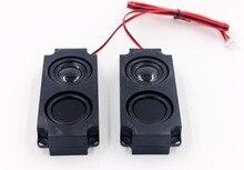 Alto falante de áudio transparente, 2 peças, 5 w 8 ohm, escala completa, alto falante de cavidade de som, vibração dupla, caixa de som para tv computador