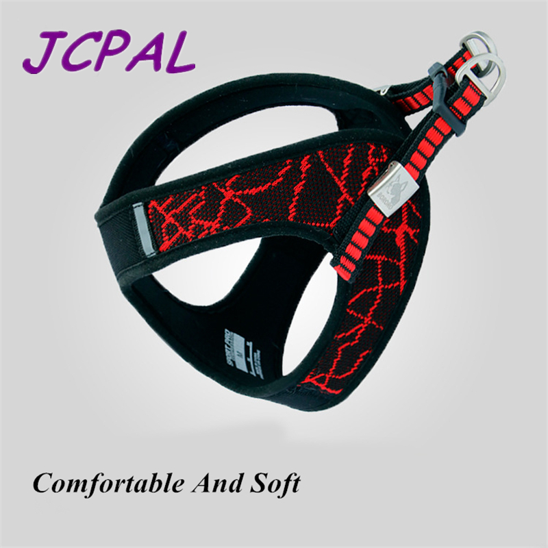 JCPAL Sport Easy Harness Reflective Dog Harness Matched With Comfortable Leash Made With Nylon Suit For Small And Medium Dogs