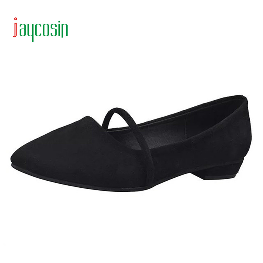 High quality Fashion Women Casual Comfortable Pointed Toe Rubber Women Flat Shoe Flats 170316 2017 fashion women shoes woman flats high quality casual comfortable pointed toe rubber women flat shoes plus size 35 42 s097