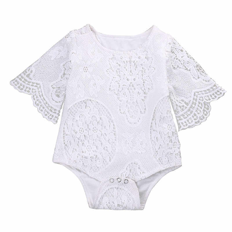 256f175561ebe2 ... Emmababy 2017 New Cute kids Baby Girl Clothes white Lace bodysuit  Infant bebe Girls Summer short