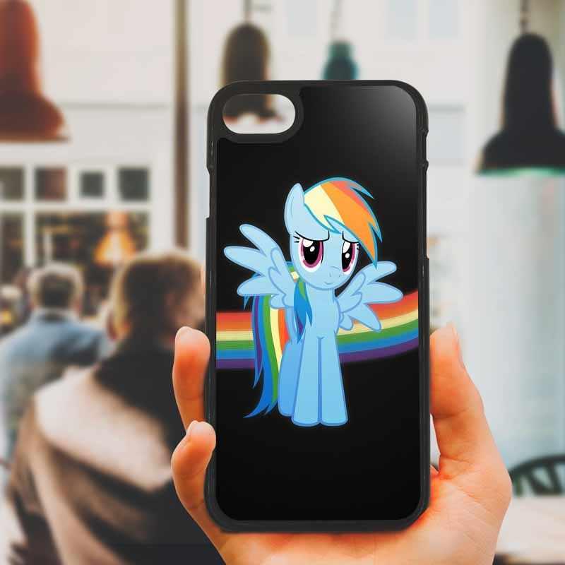 Маленький Пони Радуга тире облака сотовый твердый корпус для телефона пластик чехол для iphone 8 7 6 6 S PLUS X 5s 5C 5 SE iPod Touch 4 5 6 Чехлы