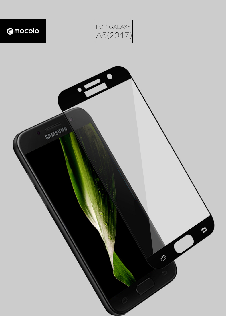 Mocolo 9H 0.33mm Full cover Tempered Glass For Samsung Galaxy A3 A5 A7 17 Screen Protector For Samsung Galaxy A3 A5 A7 cover 7