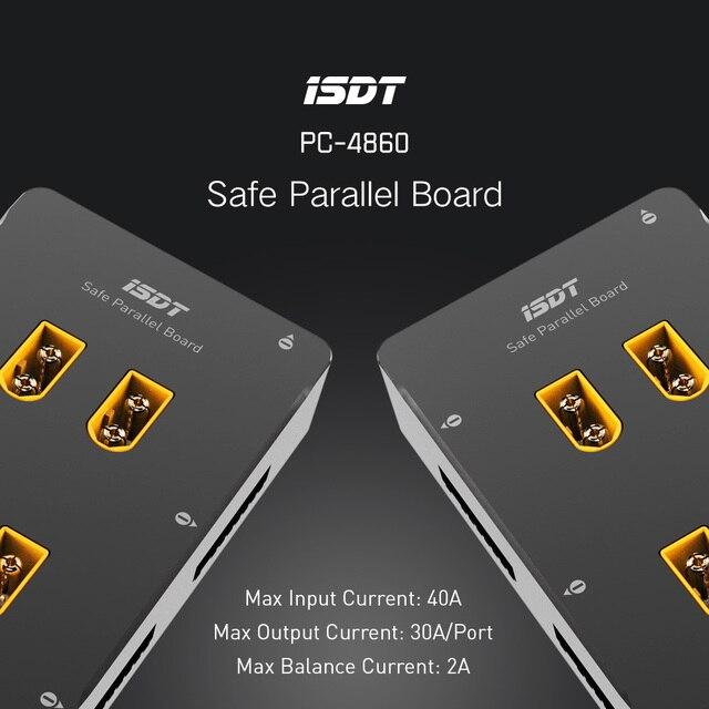 ISDT PC-4860 1-8 S Seguro Junta Xt60 Paralelo Placa de Carga En Paralelo Para SC-608 SC-620 Drone Accesorios