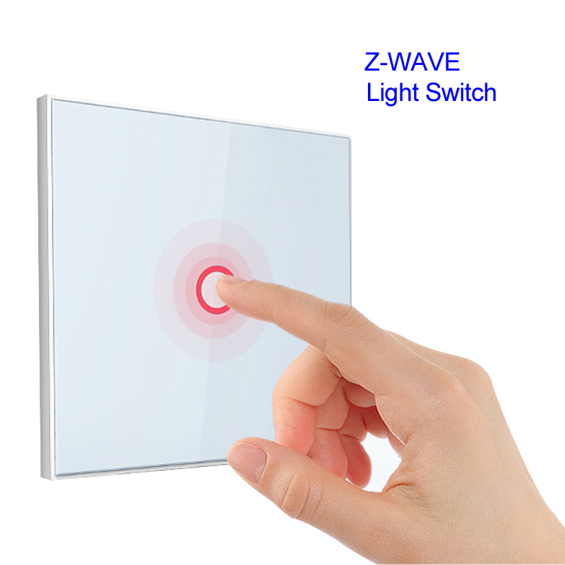 Z Wave 1 Gang EU Wall Light Switch 1CH Wireless Home Smart Remote Control Building Automation Z Wave Parts