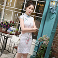 Vintage Traditional Chinese Women  Slim Short Sleeve Cheongsam Qipao New Design Unique Party Evening Dresses
