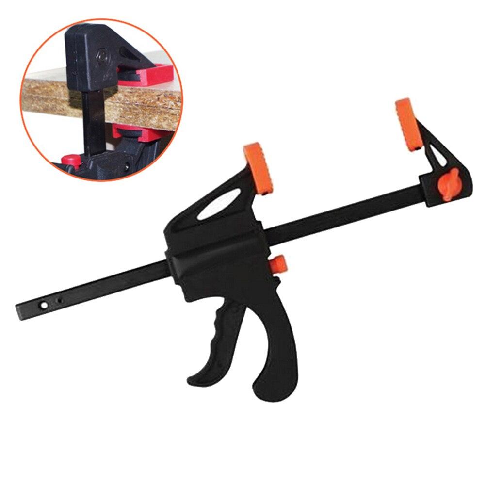 Serpme çalışma yuvarlak kelepçe F kelepçe Gadget aracı DIY el hızlı sıkma hızlı kilit serbest bırakma klipsi kiti 4 inç ahşap çalışma