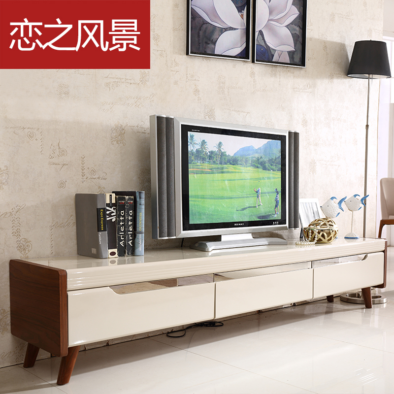 Aliexpress.com : Buy Floating Landscape painting modern minimalist  Scandinavian IKEA TV cabinet cabinet glass Entertainment Centers from  Reliable