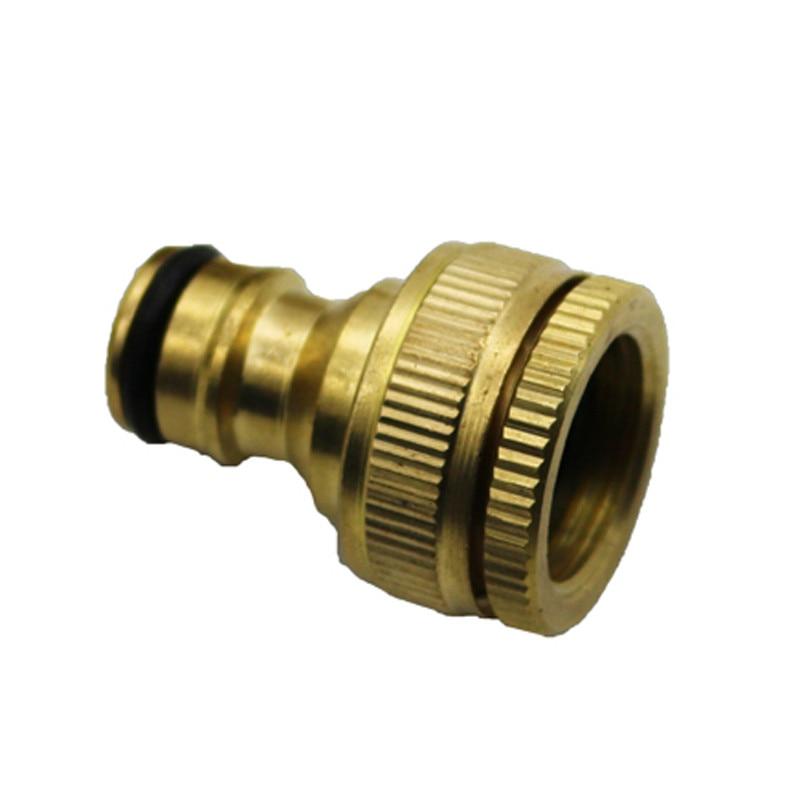"""1 Uds grifos de latón puro conector estándar pistola tubo de conexión de encaje rápido conexiones 1/2 """"3/4"""" manguera de 16mm"""