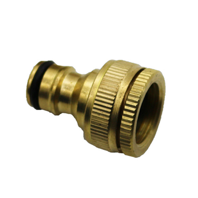 1PCS Pure Brass Faucets Standard Connector Washing Machine Gun Quick ...