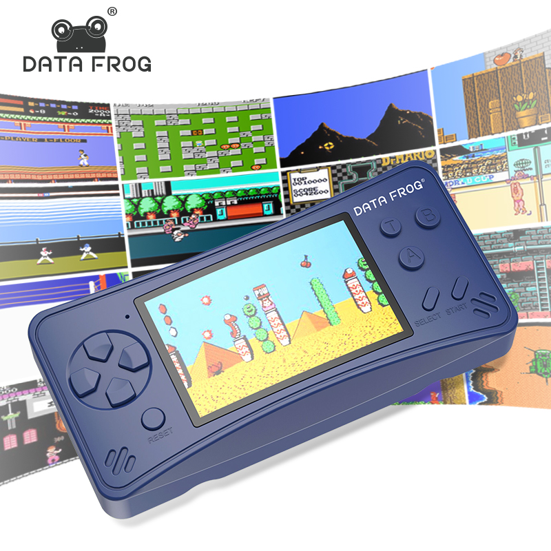 Data Frog 3.5 inch Handheld Game Player Family TV Retro Game Console Build In 218 Classic Games For Kid Toys Gift Free Shipping