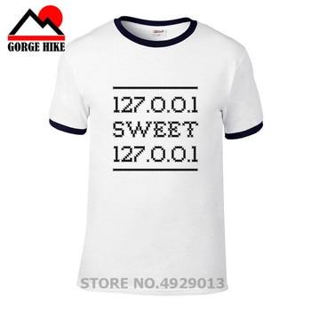 2019 It male Short Sleeves Geek Pun Home networking tech T shirt Funny men Sweet Home humour programmer Tshirt internet t-shirt