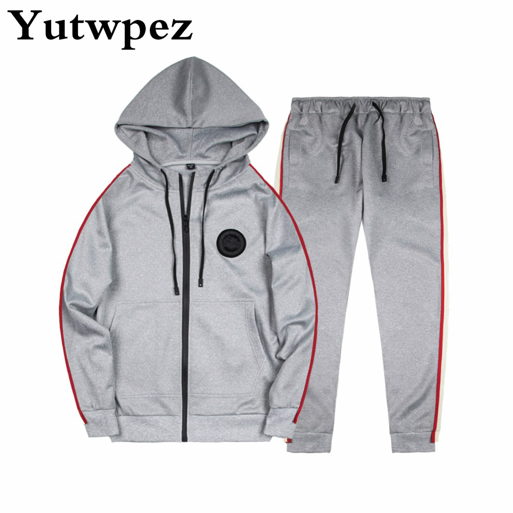 Two Piece Set Tracksuit Men Casual Spring Autumn Men Sporting Suit Hoodies+Pant Sweatsuit Men Joggers Set Moleton Masculino 2019