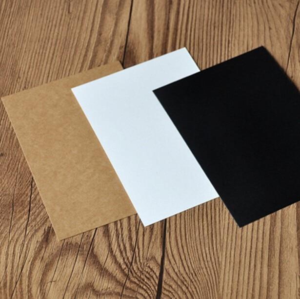 bbc384b71 Aliexpress.com  Comprar 50 100 hojas Kraft liso cartulina 300gsm de papel  en blanco de papel blanco de cartón negro papeles de 100 150mm de kraft  cardstock ...