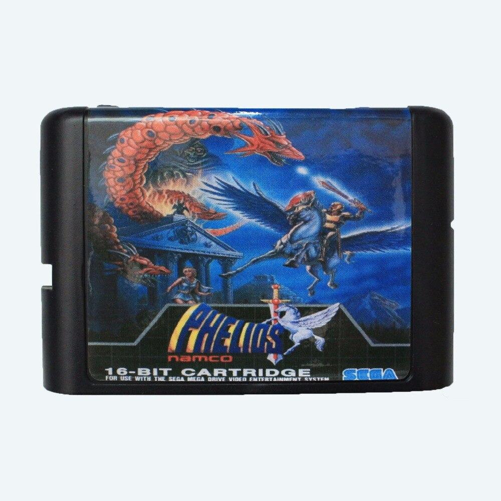Phelios 16 bit SEGA MD Game Card For Sega Mega Drive For Genesis