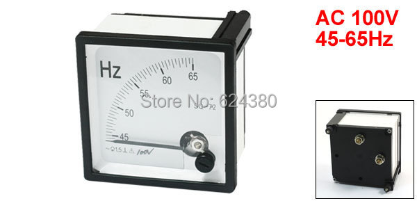 60 Hertz Frequency Meter : Analog panel frequency counter hz meter tester gauge hertz