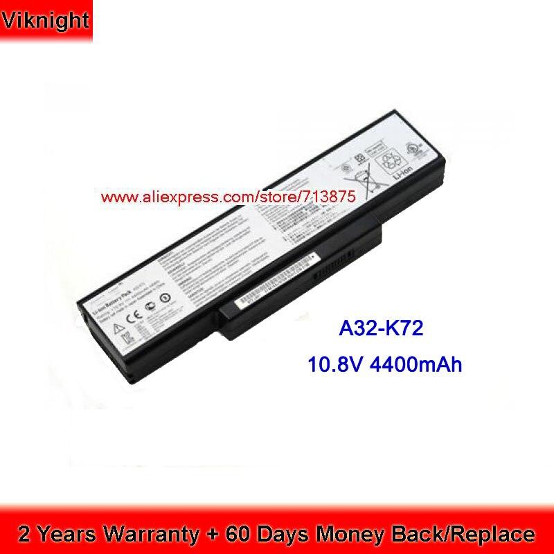 Original A32-K72 Battery for Asus K73SV K72F K72JR X73SJ K73E X73S N71J N73SV 10.8V 4400mAh 48Wh все цены