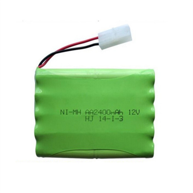 1pc 12v 2400mah ni-mh bateria 12v rc battery nimh battery pilas recargables 12v pack 10x aa size ni mh for rc car toy battery