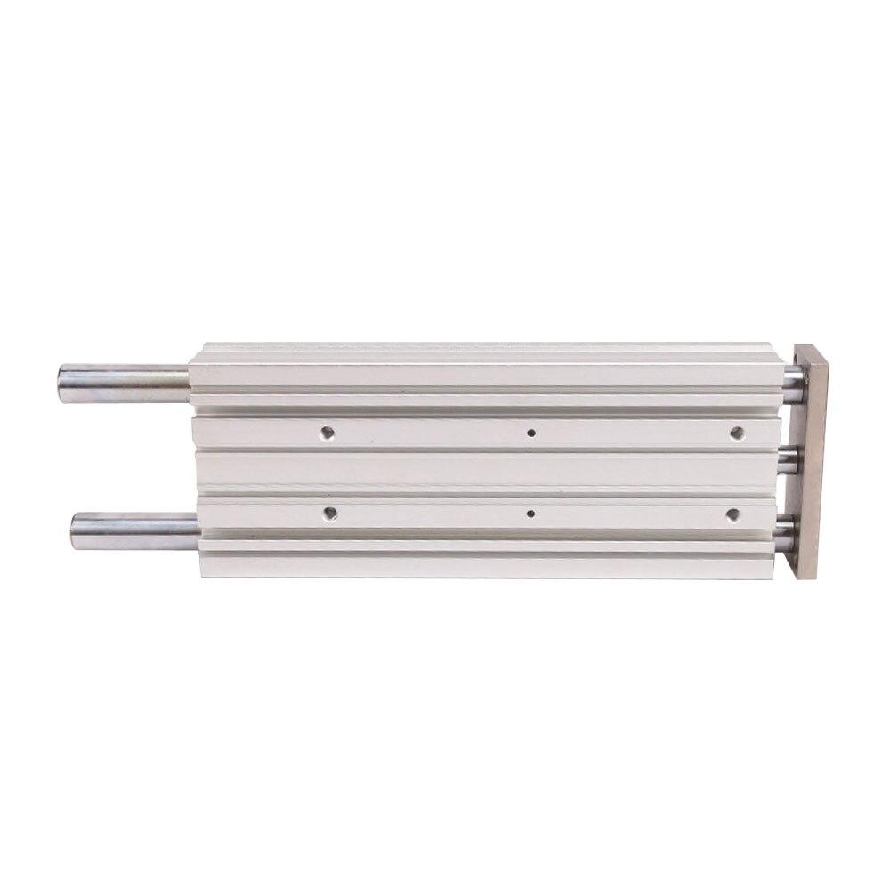 SMC MGPM12-10-20-25-30-40-50 cylindre de guidage Compact pneumatique à trois axes, composants pneumatiques à tige coulissante - 4