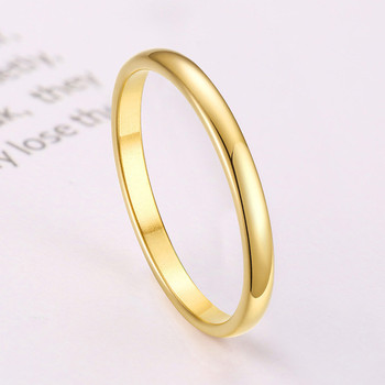 ZORCVENS 2020 New Engagement Ring for Women Simple 316L Stainless Steel Silver Gold Color Finger Girl Gift 3