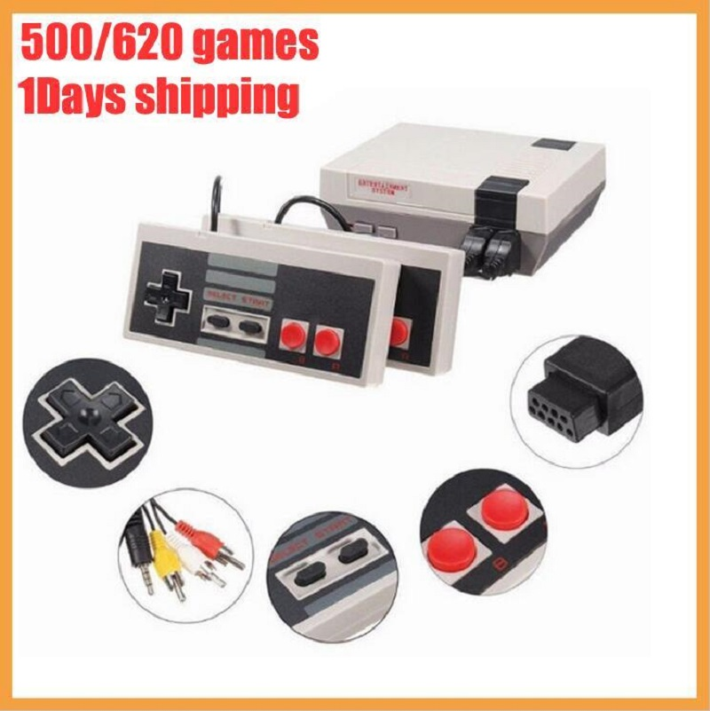 Handheld Game Consoles Mini NES video classic game console TV Video Entertainment System Built-in 620 Games