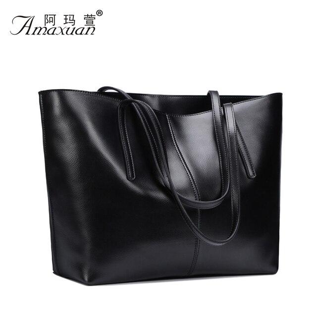 Amaxuan cuero genuino nueva bolsa Bolsos de marca famosa mujeres messenger Bags Ladies Bolsos del bolso de hombro 2015 BH804