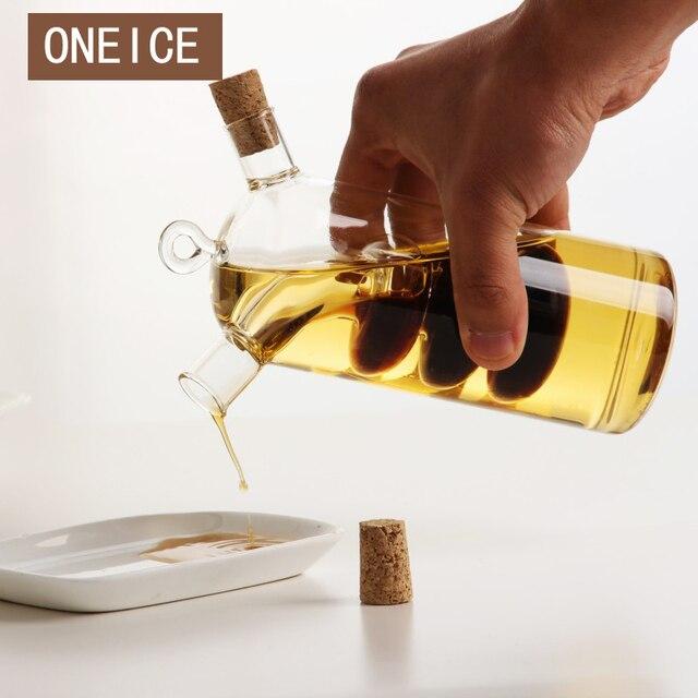 Oneice Kitchen Supplies Gl Olive Oil Bottle Cruet And Vinegar Double Oiler Bottles
