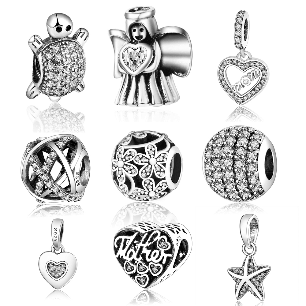 Fits Original Pandora Charms Bracelet DIY Jewelry 2017 Summer Collection Daisies Openwork Charm 925 Sterling Silver Flower Beads