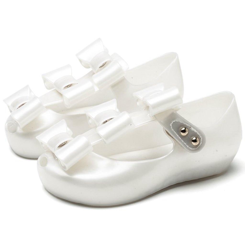 Mini Melissa 3 pary Bowknot Kids Shoes 2018 New Summer Cross Mary - Obuwie dziecięce - Zdjęcie 2