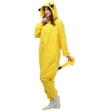Christmas Halloween Birthday Gift Pikachu Fleece Onesie Homewear Hoodie Pajamas Sleepwear Robe For Adults