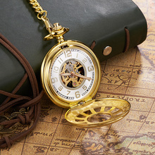 Mechanical Watch Pocket & Fob Watches Antique Skeleton Men Chain Necklace OUYAWEI Luxury Watch Relojes Bolso Relogio Masculino