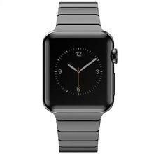 Enlace pulsera para apple watch band banda de acero inoxidable con 1:1 original de mariposa broche de correa para iwatch38mm 42mm 4 colores
