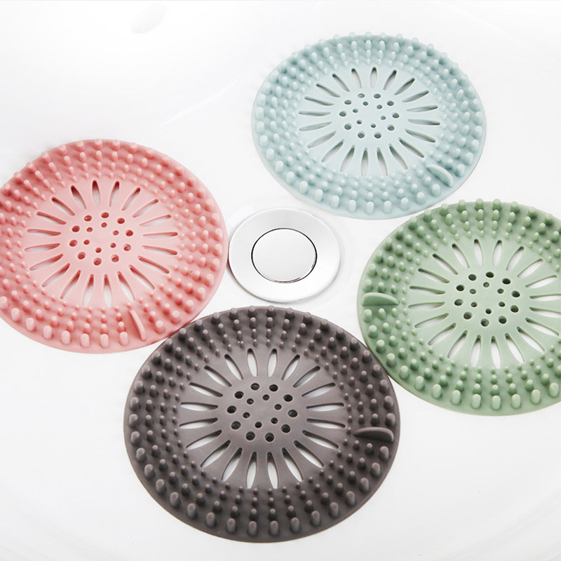 Kitchen Sink Accessories Portable Shower Filter Silicone Drain Covers Hair  Strainer Bathroom Bathtub Supplies 1Pcs