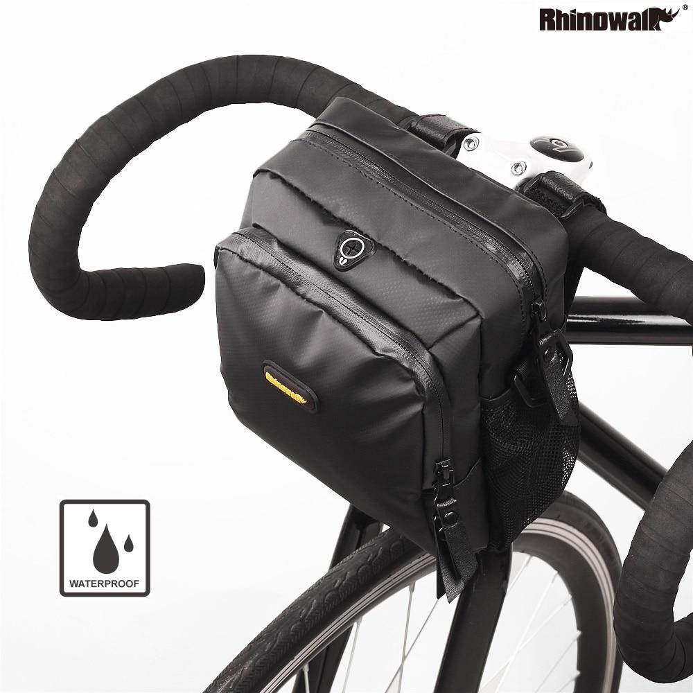 Rhinowalk Bicycle Handlebar Bag Road Bike Front Tube Bag Shoulder Bag Multi-Use