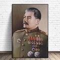 Joseph Stalin Porträt HD Wand Kunst Leinwand Poster Drucke Malerei Wand Bilder Giclée Für Moderne Wohnzimmer Home Decor Kunstwerk