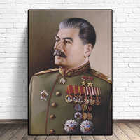Joseph Stalin Portrait HD Wall Art Canvas Posters Prints Painting Wall Pictures Giclee For Modern Living Room Home Decor Artwork