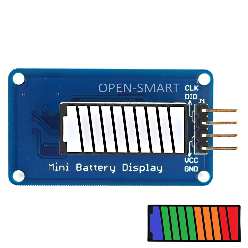 OPEN-SAMRT Battery Style Digital Tube LED Battery Level Display Module 4-color 10-segment LED Bar For Arduino