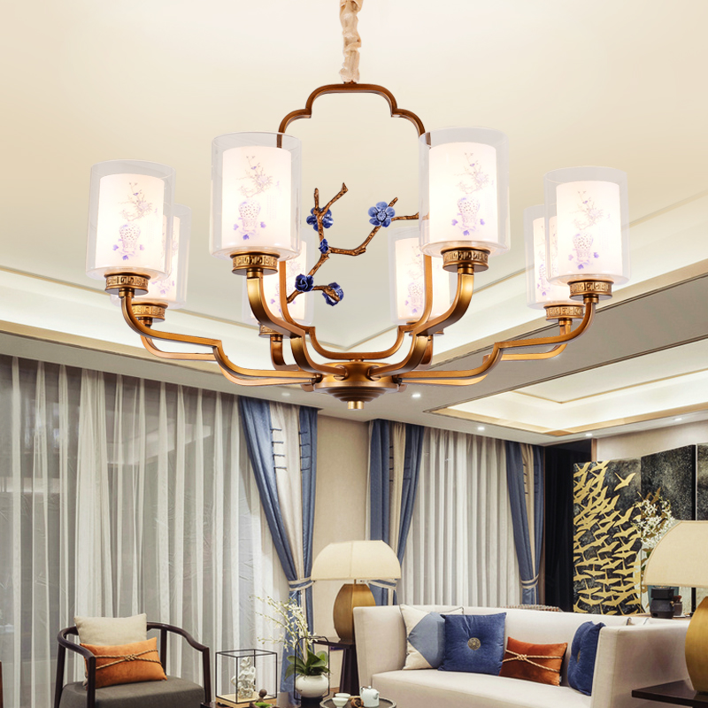 Chinese style pendant lamps 3/6/8 heads  living room wind Restaurant Restaurant new classic antique bedroom ZA811628
