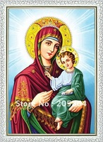 Free Shipping Gobelin Tapestries Popular Virgin Mary Mother Of God Decoration Picture