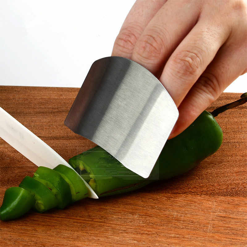 Stainless Steel Kitchen Accessories Vegetable Finger Guard Protector Gadgets For Personal Hand Safe Easy Cutting Cooking Tools