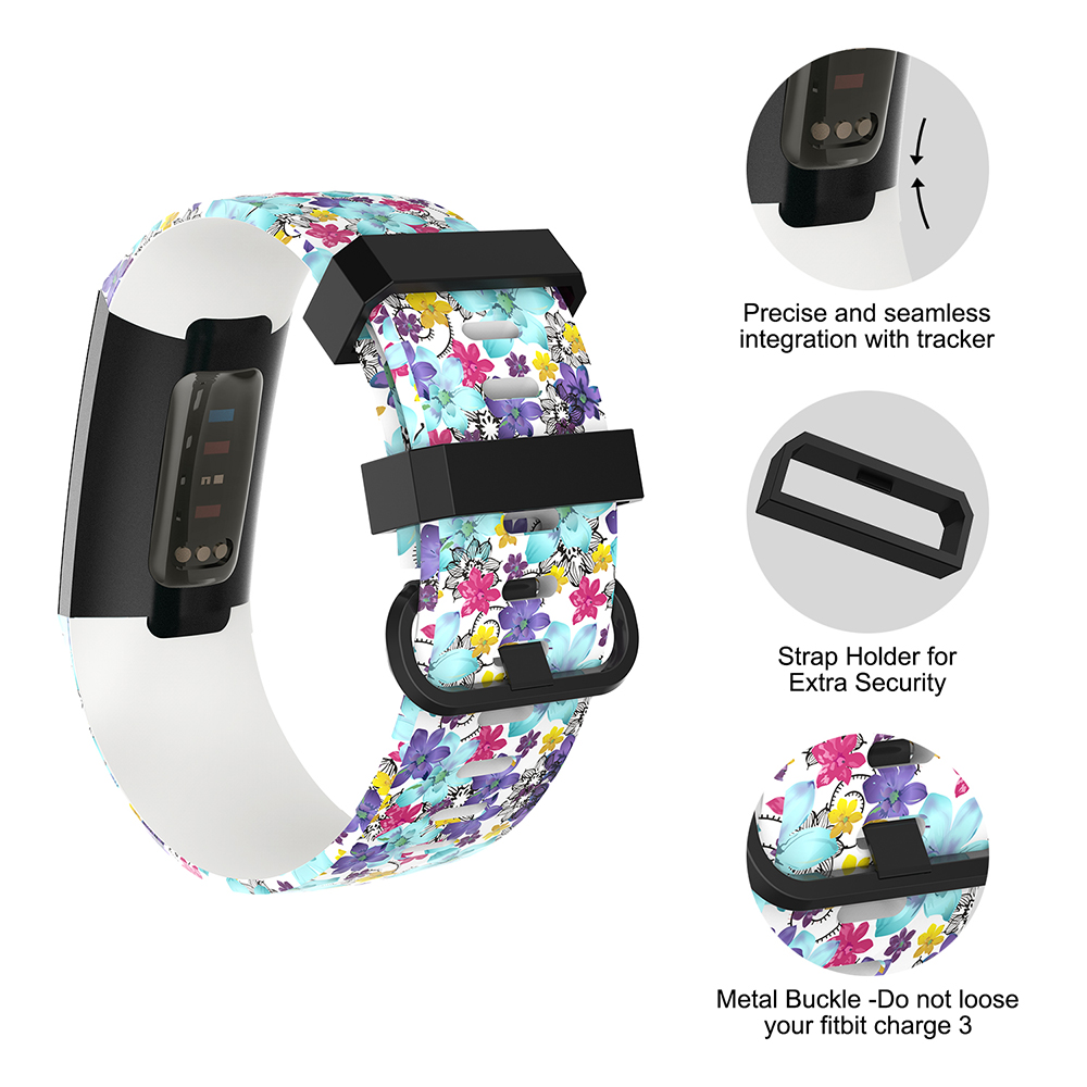 For Fitbit Charge 3 Band For Fitbit Charge 3 Strap,Durable TPU Band  Replacement Strap Sport Wristband for Charge 3 Smart Watch