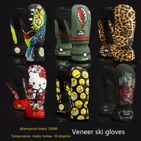 Best Quality Winter Thermal Ski Gloves Waterproof Cool Resistant Snowboard Gloves Men Womens Guantes For Skiing