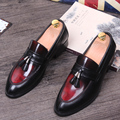 Tidog Korean men's leather shoes retro fashion leisure dress loafer shoes