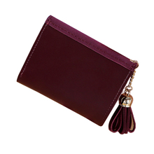 купить Women Lovely Leather Zipper Wallet Fashion Lady Portable Multifunction Small Solid Color Change Purse Hot Female Clutch Carteras дешево