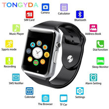 Sport Bluetooth Smart Watch Pedometer WristWatch With SIM Camera Smartwatch For Android Smartphone Russia T15 good than DZ09 A1(China)