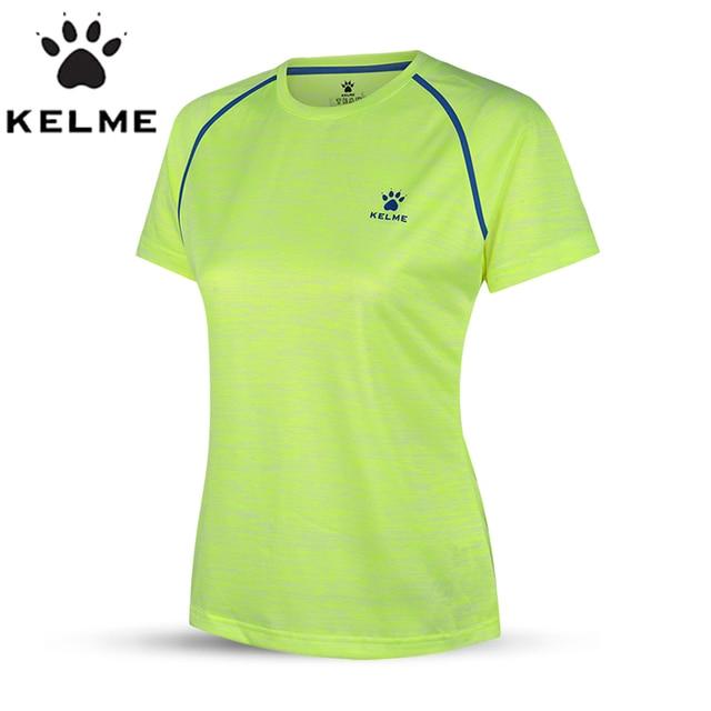 KELME Elastic Women T-Shirt Quick Dry Fitness Tights Gym Training Sports  Suit Yoga Cycling Basketball Running Shirt a5fc56b1c