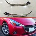 Противотуманная фара для Mazda 2 Demio 2015 2016  хромированная накладка на фару для стайлинга бровей